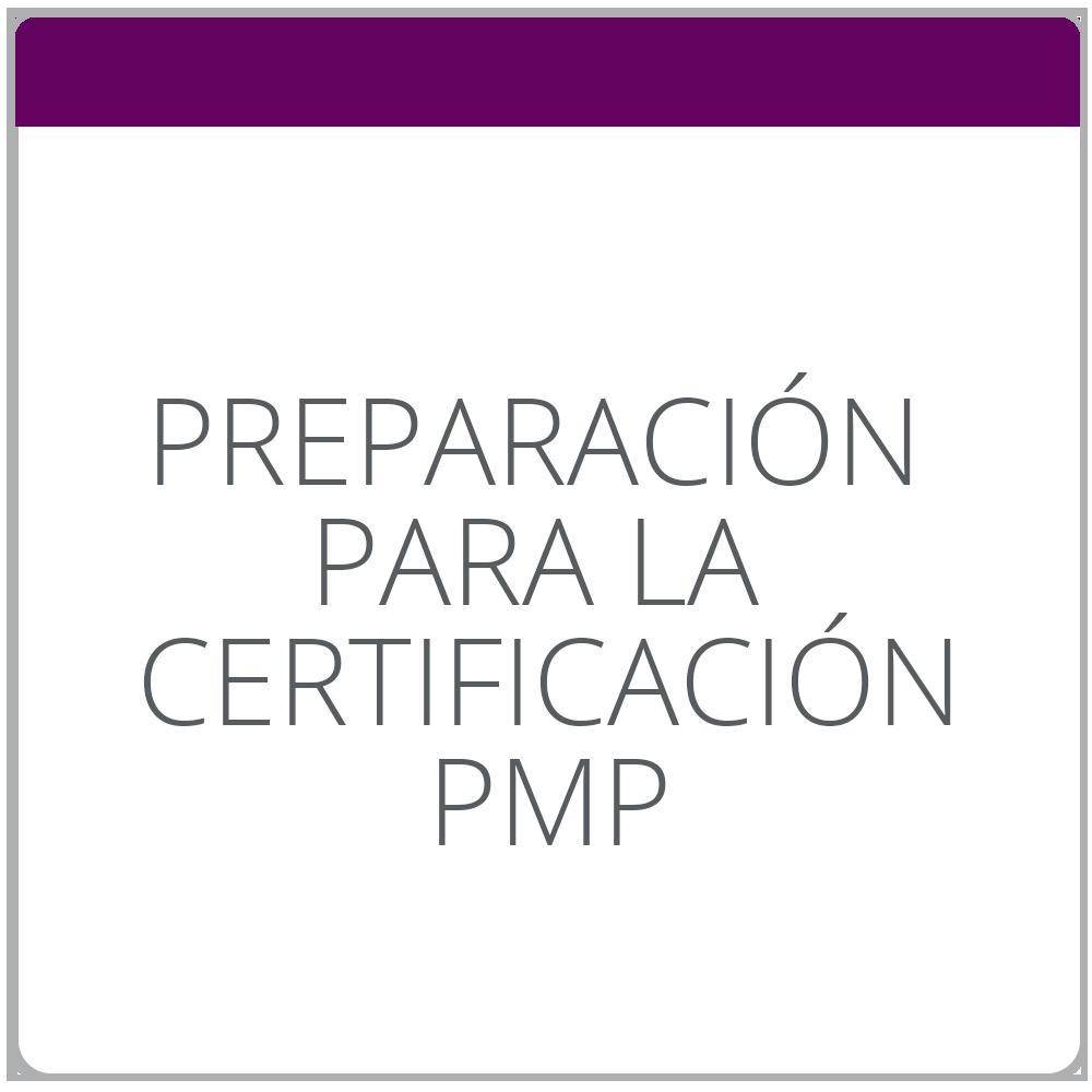 Preparación para la certificación PMP