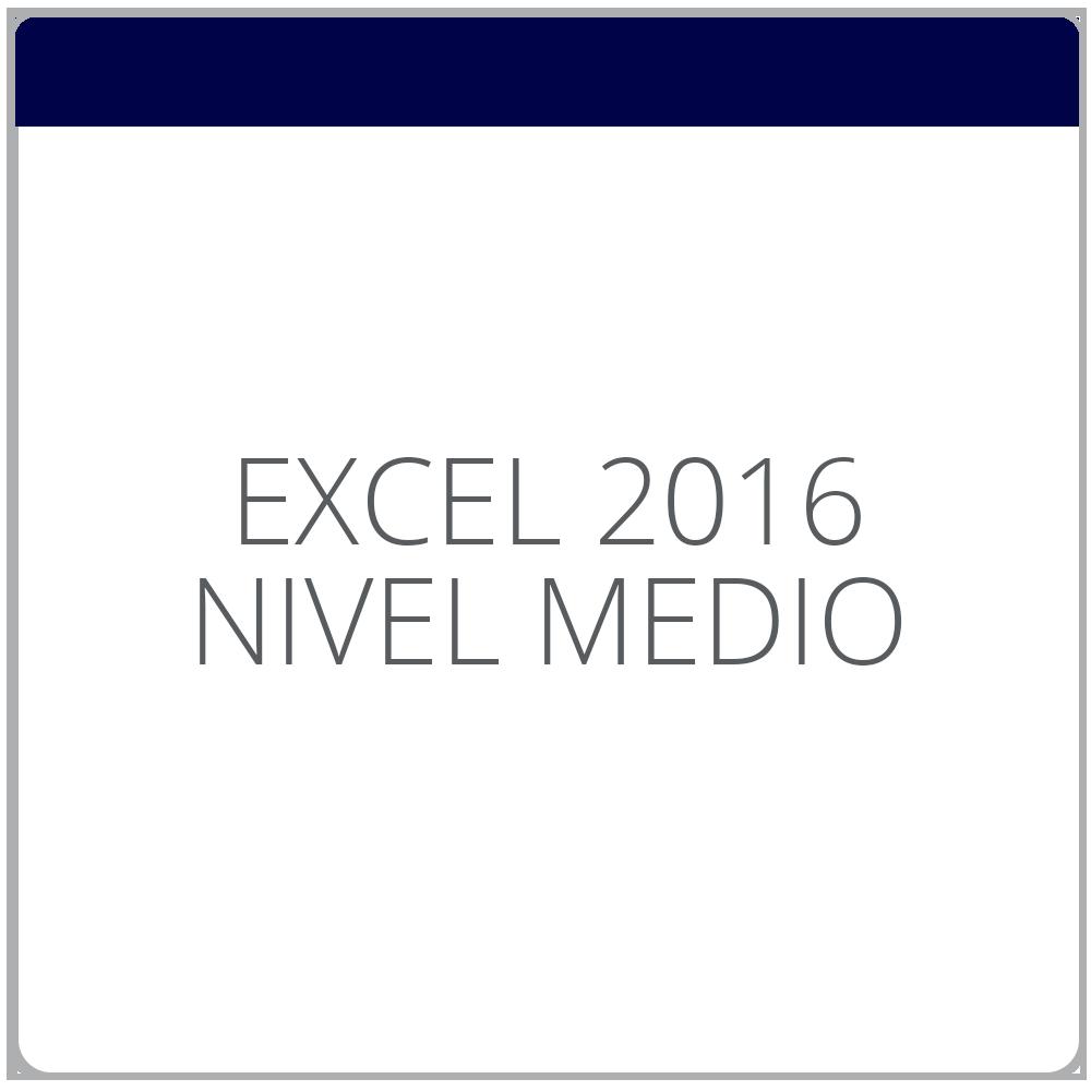Excel 2016 Medio