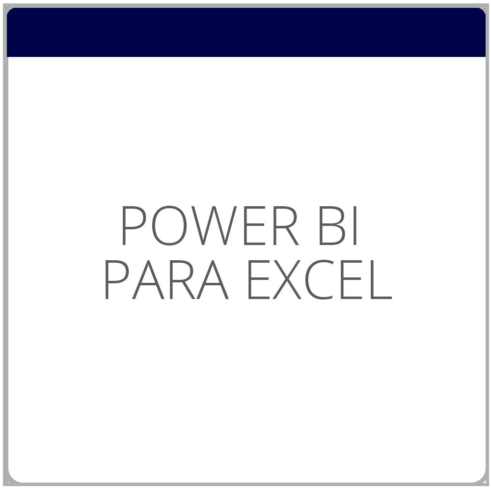 Analítica de datos con Excel Power BI