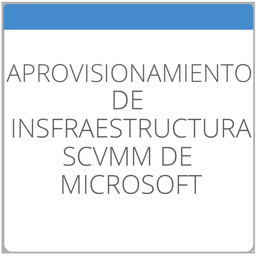 Aprovisionamiento de infraestructura con System Center Virtual Machine Manager de Microsoft