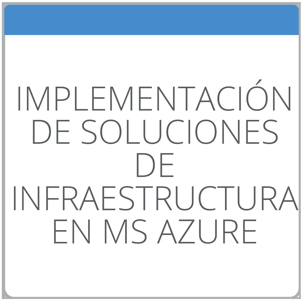 Implementación de soluciones de infraestructura en Microsoft Azure.
