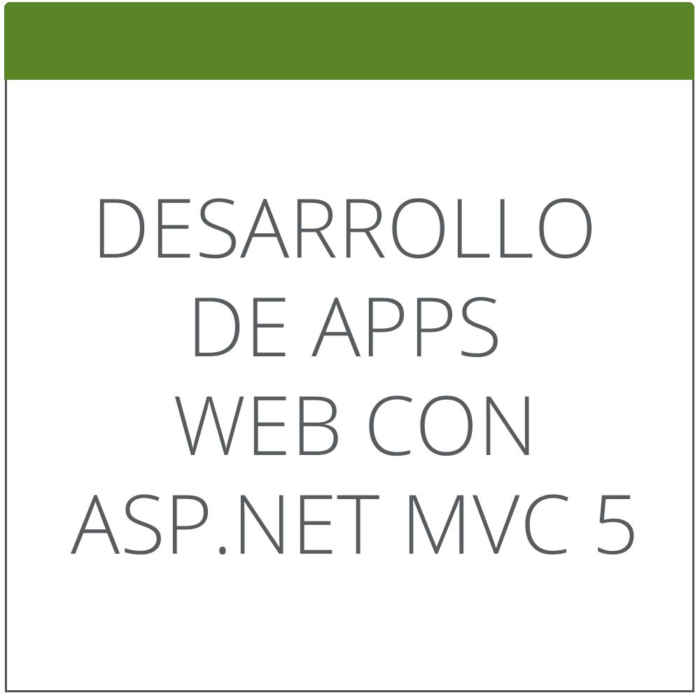 Desarrollo de Aplicaciones Web con ASP.NET MVC 5
